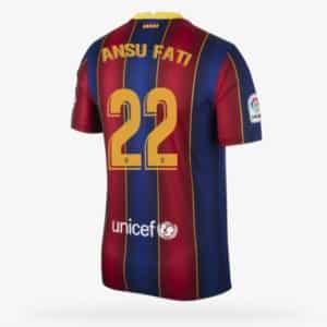 camiseta ansu fati barcelona local barata replica