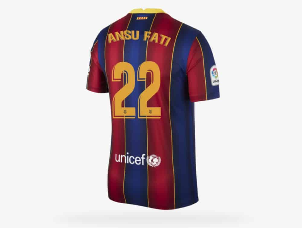 Camiseta Ansu Fati Barcelona 2021 - ✓ La Web Nº1 de Camisetas de Fútbol