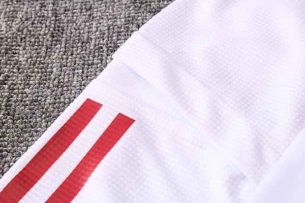 chaqueta real madrid blanca detalle
