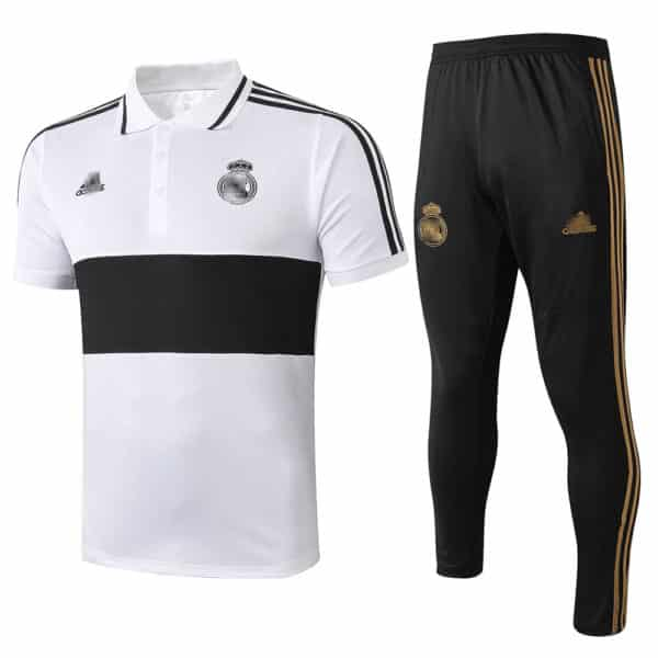polo blanco y negro real madrid