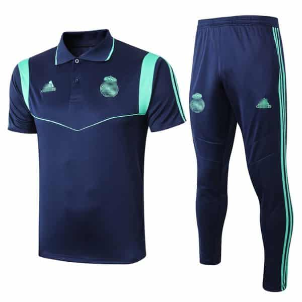 polo real madrid azul-verde