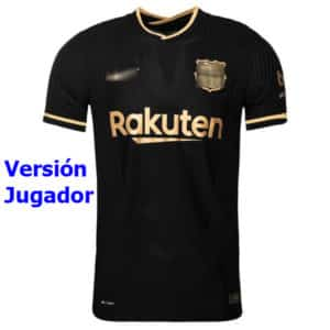 camiseta barcelona vapornike negra 2021