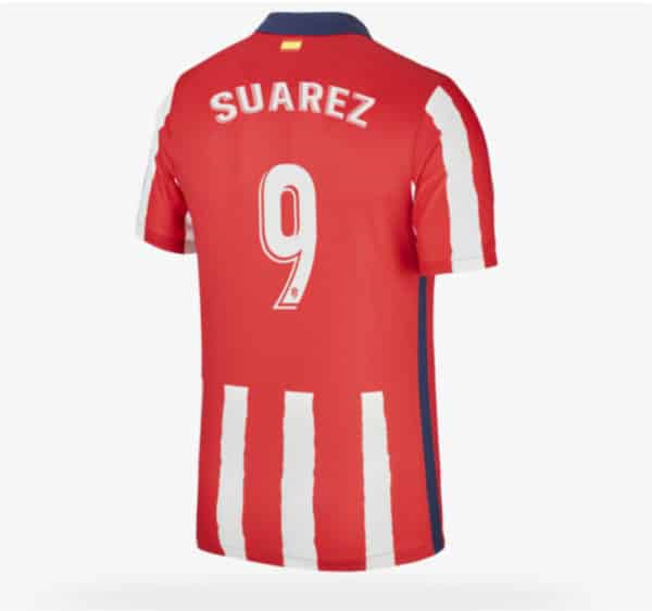 Camiseta Luis Suarez atletico de madrid 2021 local barata replica