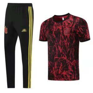 camiseta de entrenaiento roja españa 2021
